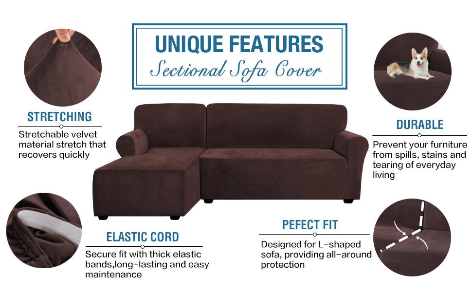 L Shape Customized Sofa Covers