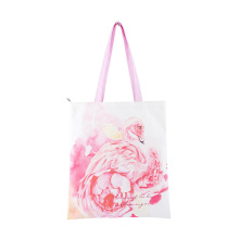 Custom Sublimation Printing Logo Reusable Canvas Durable Recycled Cotton Grocery Bags Tote Shopping Bag