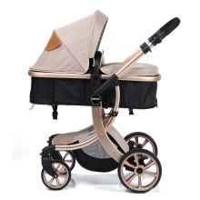 Infant Toddler Baby Stroller Carriage Compact Landau Poussettes ajouter un plateau (Kaki)