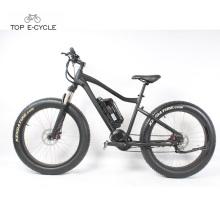Bicicleta eléctrica de la nieve de la grasa del neumático de la suspensión delantera de alta calidad en venta