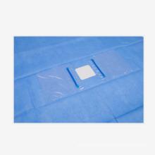 Paquete de oftalmología desechable para cirugía estéril Juego de cortinas para ojos