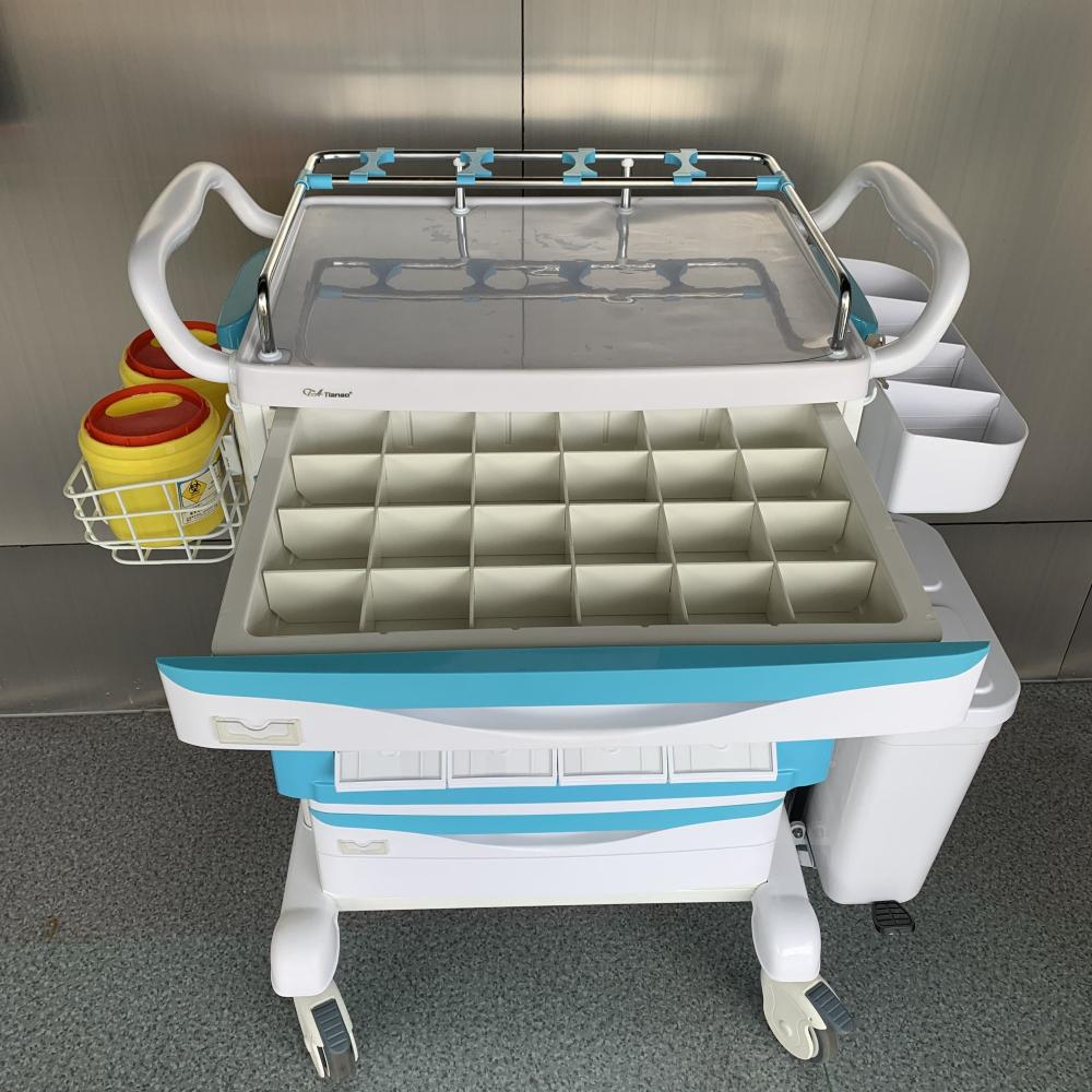 Hospital Steel ABS Medicine Trolley