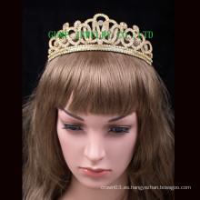 Oro plateado tiara mujeres rhinestone tiara