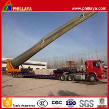 Remorque de transport de lame de vent de type rotatoire hydraulique à trois axes