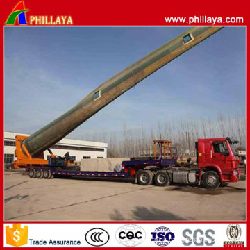 Tri-Axle Hydraulic Rotary Table Type Wind Blade Transport Trailer