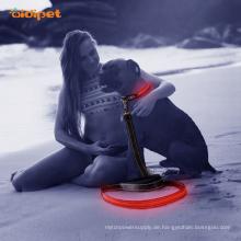 Einstellbare Mesh USB wiederaufladbare Led blinkende Hundeleine