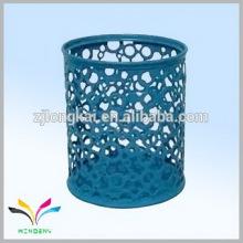 Blaue bunte runde Metallschnur Keramik Stifthalter Karikatur Stifthalter