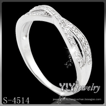 CZ Micro Pave Ring, покрытое родием кольцо (S-4514)