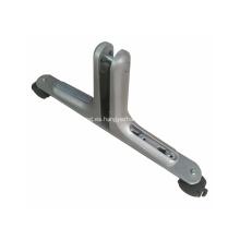 Pie ajustable móvil de aluminio para divisor de oficina