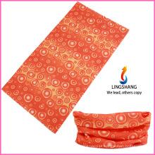 100% poliéster multifuncional sem costura outdoor pescoço tubo cachecol, bandana esporte