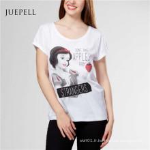 T-shirt imprimé de mode des femmes