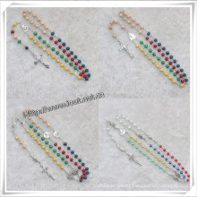 Five Colours Wooden Beads Rosary, Religious Beads Rosary (IO-cr000)