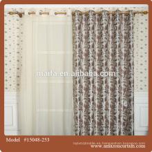 Tejido oriental al por mayor de la cortina del apagón del telar jacquar del poliester en línea para la compra