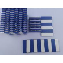 Emblemas de nome azul magnético