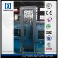 Fangda Glas Dusche Stahltür, mit dekorativen Schmiedeeisen Glas