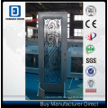Fangda Glass Shower Steel Door, with Decorative Wrought Iron Glass