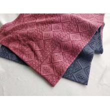 Tissu de dentelle de coton poly