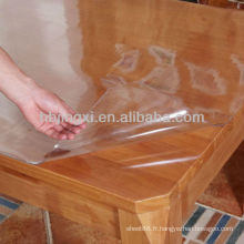 Feuille de table en PVC transparent