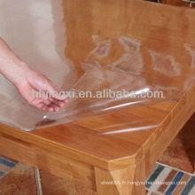 Feuille de table en PVC transparent
