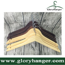 Cheap Oak Wooden Hanger with Matel Hook