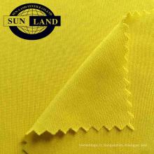 Tissu tricoté jersey de couleur unie 100 vêtements de base en polyester de couleur personnalisée pour vêtements de base