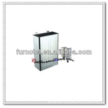 U165 Stainless Steel Cutlery Collecting Bin With Hooks