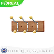 Wooden Clothes Hooks with Colorful Plastic Beads