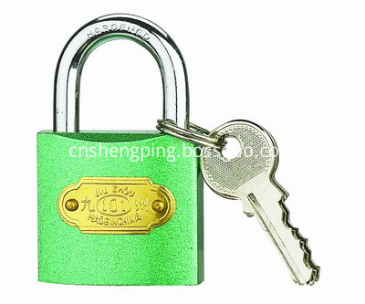 COLOUR IRON PADLOCK-GREEN-400