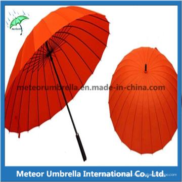 Alta qualidade em linha reta auto open 24ribs guarda-chuva de golfe grande