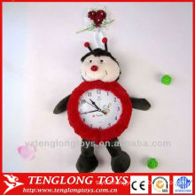 house decoration plush wall clock with animal style