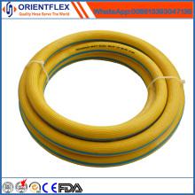 Manguera de aire de PVC flexible de bajo precio de color amarillo
