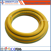 Tuyau flexible d'air de PVC de couleur jaune flexible