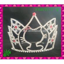 Vente en gros la couronne tiare à bijoux, la tiare de mariage couronne tiara gelée
