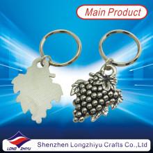 Grape Fruit Antique Silver Custom Key Chain Metal Keyring (LZY800027)