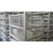 Entrepôt de stockage en métal en acier pliable Cage