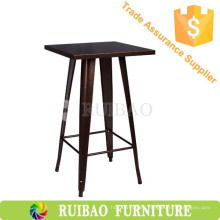 Estilo de muebles comerciales Réplica de mesa de metal alta mesa de café