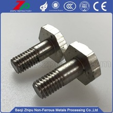 Customized 99.95% purity Molybdenum Bolt Nut Screw