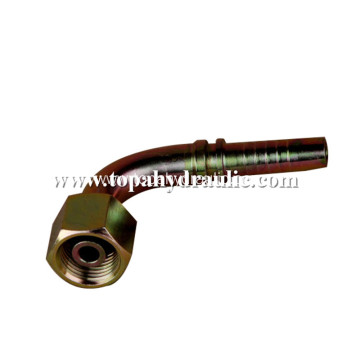An hydraulic hose brass pipe aluminum pipe fitting