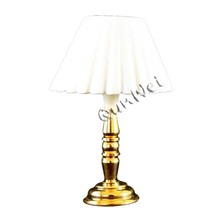 Professional factory selling for Dollhouse Miniature Lamp Table Dollhouse table lamp in brass base export to Russian Federation Factories