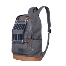 Cotton Polyester Denim Fabric and 18-30L Capacity brand new design Solar Backpack with LED light