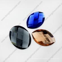 Beste Qualität facettierte farbige dekorative spezielle ovale Glasperlen für Schuhe