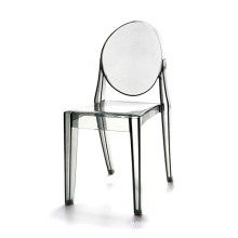 Clear crystal plastic dining chair with great price