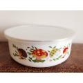 popular white Enamel coating metal bowl for kids