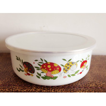 popular white Enamel coating metal bowl for kids