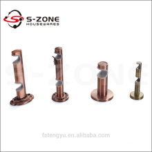 decorative copper iron curtain rod/pole wall brackets