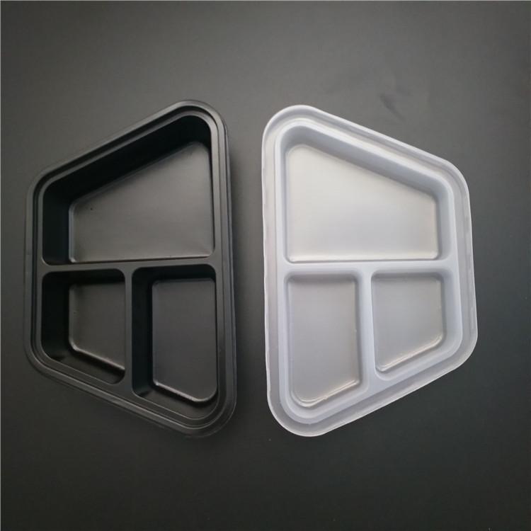 three compartment plate