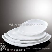 """Plaque ovale de 14 """", plaque ovale en porcelaine"""