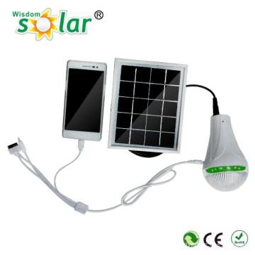 Portable indoor Solarbeleuchtung Kit mit mobile Aufladen direkt