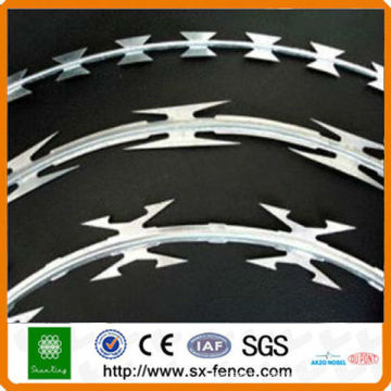 galvanized/low carbon steel razor barbed wire for security with high quality