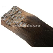 Cheveux remy 160g clip dans les extensions de cheveux humains